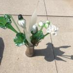 Glass flower arrangement