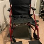Folding wheelchair/transport chair - new!