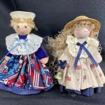 Patriotic Wood Doll Figurines