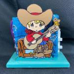 Precious Moments Style Cowboy Napkin Holder #2
