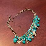 Lot #41 -- Turquoise-color beads with Starfish necklace