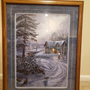 """Photo of James Meger """"Heavenly Peace"""" painting"""