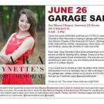 Sara's Wish Garage Sale Fundraiser June 26