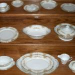 Vintage 98 Piece Dinner Set, Service for 12, by ESCO. Fine China.