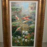 Koi Fish, Original Oil Painting on Canvas, by B. Harvey.