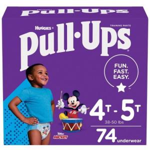 Photo of Huggies 4t-5t pull ups 74 count
