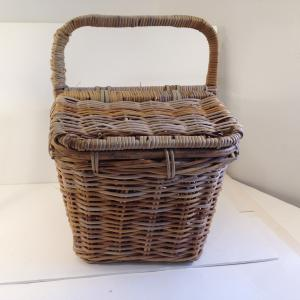Photo of Vintage Extra Large Rattan / Wicker Picnic Basket