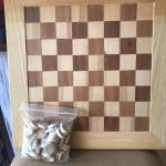 Wood checker board