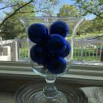 Glass Crystal Vase fill with Blue
