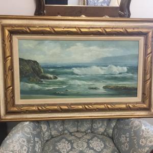 Photo of Oil Painting of ocean