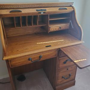 Photo of Roll Top Desk and Chair