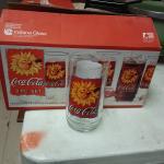 1995 Coke glasses 2 sets of 8