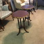 2 Antique Wood Table