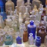 63 Antique Old Bottles