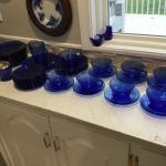 146 Pieces of Cobalt Blue Antique (10 place setting)