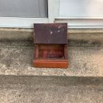 Funky Utilitarian  Wooden Box
