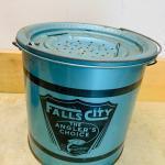 Antique fishing bait bucket