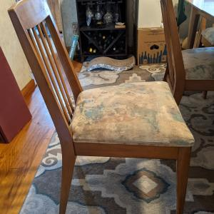 Photo of Retro wooden dining room table