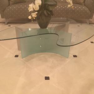 Photo of Modern designer glass coffee table