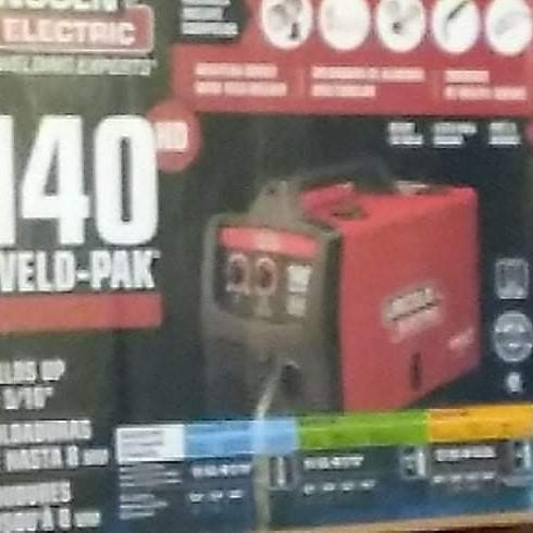 Photo of Lincoln Electric weld pak 140 HD wire feed welder