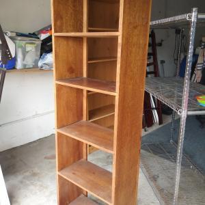 Photo of Handmade wooden book shelf
