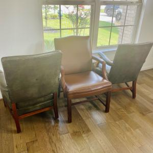 Photo of 3 Leather Chairs