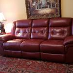Duel Power Recliner Sofa-Red