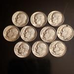 Lot of silver rosevelt dimes collectable silver