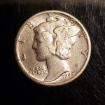 BU 1942 silver mercury dime Rare High grade