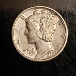 BU 1942 P  silver mercury dime Rare High grade
