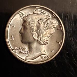 Photo of BU silver 1942 S   mercury dime Higrade Rare
