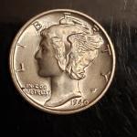 BU silver 1942 S   mercury dime Higrade Rare