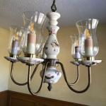 Antique Porcelain Light