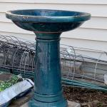 Vintage garden  birdbath