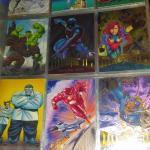 Marvel /fleer super hero cards book