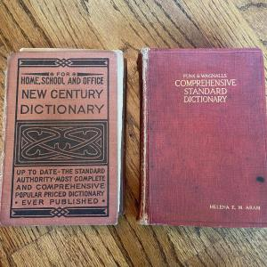 Photo of LOT 123 - New Standard Dictionaries, Vintage (2 total) - 1933