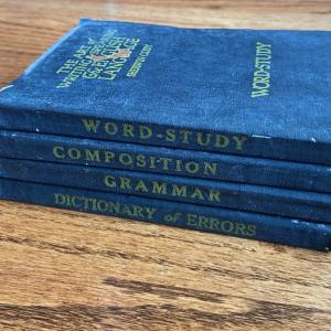 Photo of LOT 116 - Language & Writing Books, Vintage (4 books), 1924