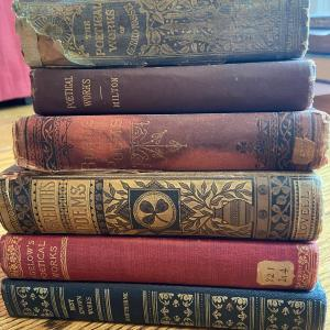 Photo of LOT 121 - More Antique Poetry Books (6 books), 1861-1900