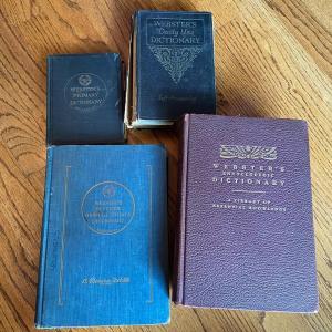 Photo of LOT 119 - Webster Dictionaries, Vintage (4 total), 1892-1965