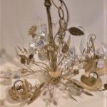 Chandelier - Crystal Birds, Leaves and Beads