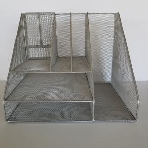 Photo of Desktop Organizer Silver Wire Mesh