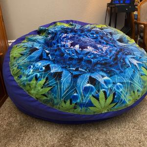 Photo of Queen sized CordaRoy's bean bag with Kush cover