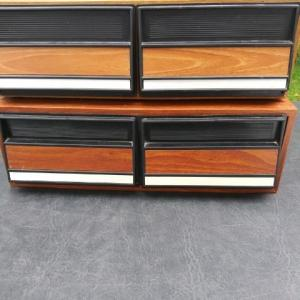 Photo of 48- VHS Tapes and 2-Tape Cabinets