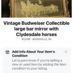 Budweiser Clydesdale horse mirror