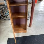 Brown canned goods cabinet