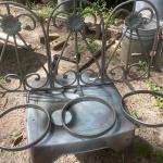 antique 3 pot, wall flower pot holders