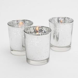 Photo of Silver mercury glass votives