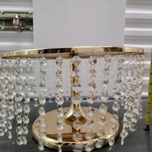 Photo of Gold and Crystal cake stands