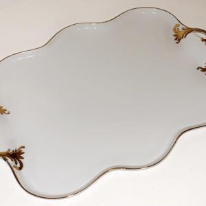 "Photo of ""Sorelle"" fine porcelain with gold trim serving platter"