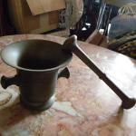 1900's Mortar and Pestle brass.